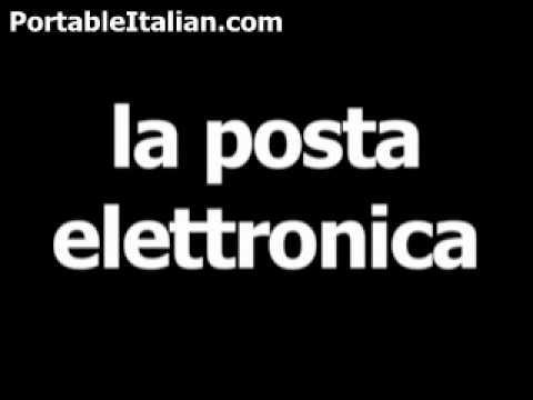 Italian word for e-mail is la posta elettronica