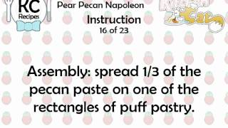 KC Pear Pecan Napoleon YouTube video