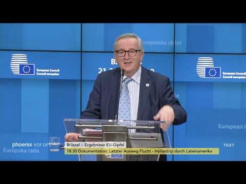 Donald Tusk und Jean-Claude Juncker zu den Ergebnisse ...