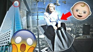 Video PREGNANT MUM ON 1000 FT GLASS SLiDE iN SKY! 😱🤰 **terrifying** MP3, 3GP, MP4, WEBM, AVI, FLV September 2018