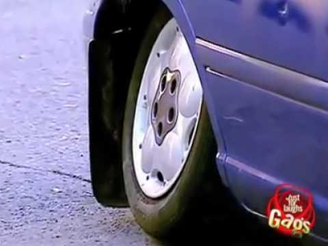Just For Laugh - Fat Man Breaks Car