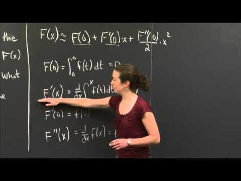 Second fundamental theorem and quadratic approximation | MIT 18.01SC Single Variable Calculus