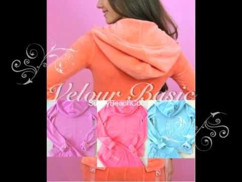 Juicy Couture Velour Basic Hoodie and Snap Pocket Pants
