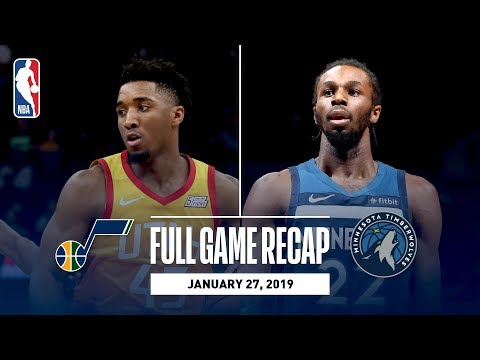 Video: Full Game Recap: Jazz vs Timberwolves | Donovan Mitchell & Andrew Wiggins Duel In Minnesota