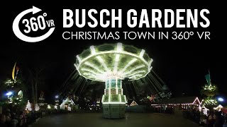 Take a virtual look around at the 8 million lights that make the Busch Gardens Christmas Town a spectacle. This 360 degree virtual reality video was filmed during a family vacation with the Ricoh Theta S camera.  The contrast of light and dark is hard on any camera and this is no exception, but it's still a fun look at the festivities.