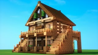 EPIC SURVIVAL - How to build a survival house (Minecraft mansion)