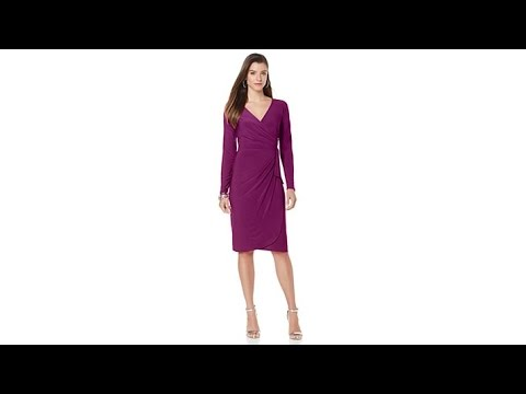 Tiana B. FauxWrap Dress with Side Bow