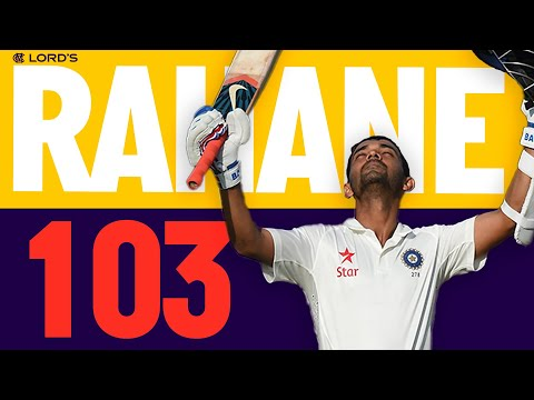 Ajinkya Rahane Leads India With Stunning 100! | England v India 2014 | Lord's