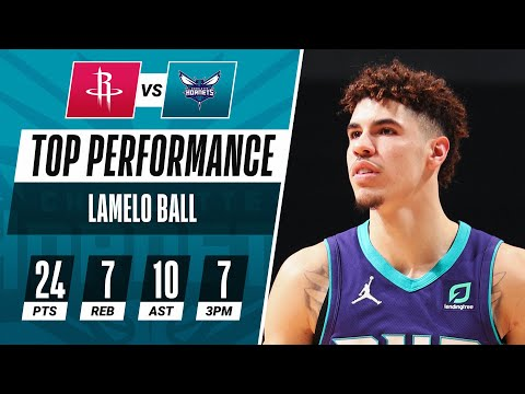 Video: LaMelo Ball (24 PTS, 10 AST) Drains A Career-High 7 Threes In Hornets W!