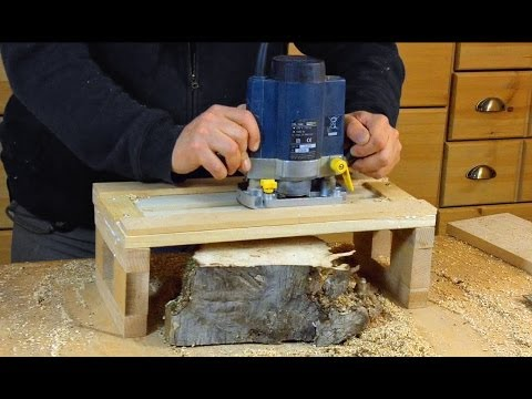 woodworking - Plane wood using a router and a straight bit. Planning/Surfacing Burl or Curly wood can be a challenge, sometimes you can't use a planer. This very basic and...