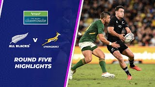 New Zealand v South Africa Rd.5 2021 Rugby Championship video highlights