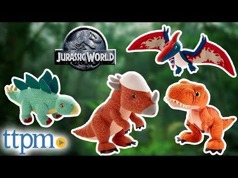 Jurassic World Tyrannosaurus Rex, Pteranodon, Stegosaurus, and Stygimoloch Stiggy Plush from Mattel