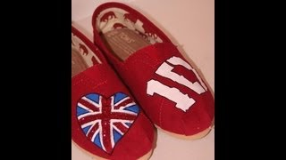 DIY: One Direction Painted Shoes | ShowMeCute | DIY - YouTube