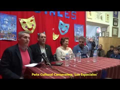 Presentación del Pregonero de los Carnavales de Isla Cristina 2017 Manuel González Gutiérrez
