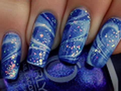 Elegant water nail art photographs taken this month