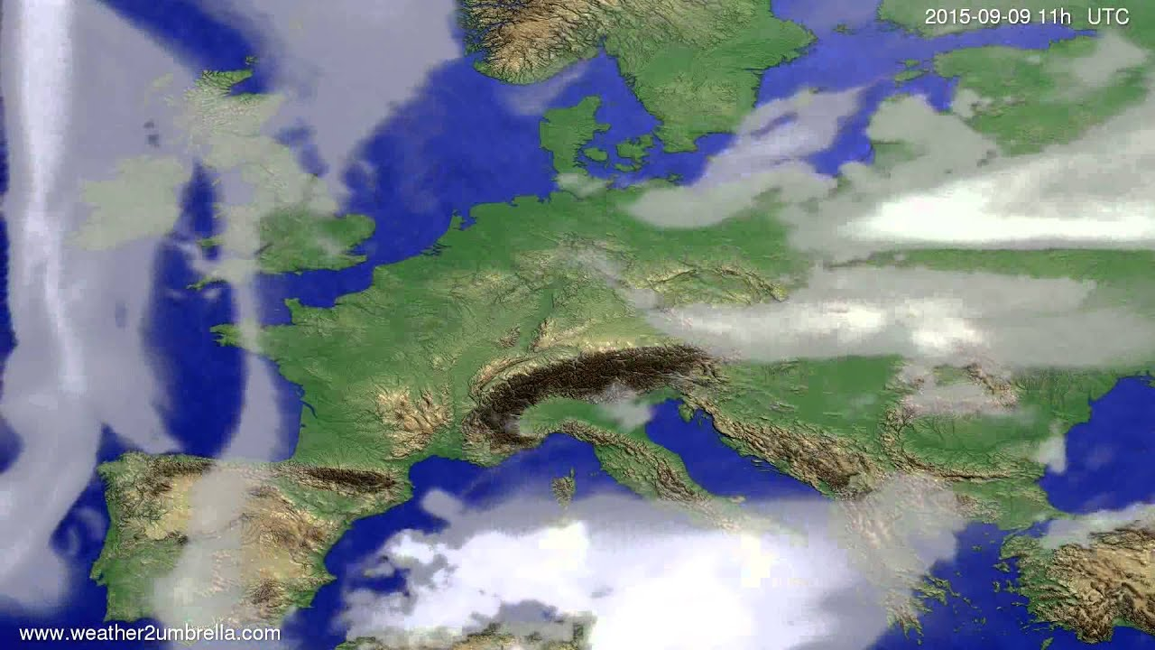 Cloud forecast Europe 2015-09-06