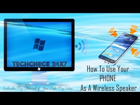 How to use Android Phone as Wireless Speaker and Stream Music from Computer   Tutorial