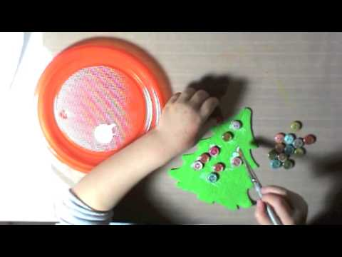 lavoretti di natale per bambini: albero di natale in panno lenci