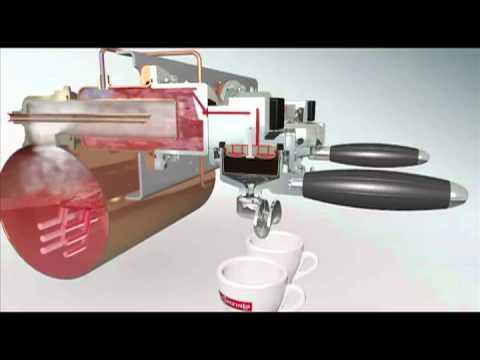 La Spaziale animated espresso demo