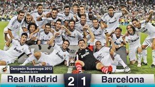 Video Real Madrid vs Barcelona 2-1 | Spanish Super Cup 2012 | All Goals & Highlights HD MP3, 3GP, MP4, WEBM, AVI, FLV November 2018