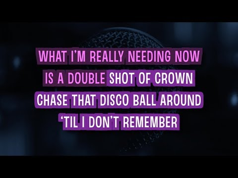 Bartender Karaoke Version By Lady Antebellum (Video With Lyrics)