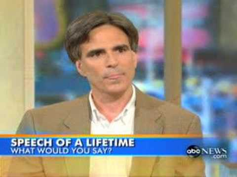 The Last Speech Of A Lifetime (Randy Pausch)