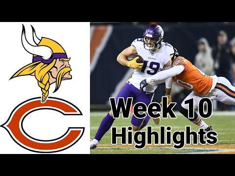 Monday Night Football Vikings vs Bears Highlights Full Game   NFL Week 10