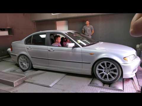 BMW e46 320d remapped dyno run