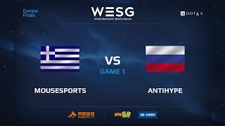 Mousesports против AntiHype, Первая карта, первая часть, WESG 2017 Dota 2 European Qualifier Finals