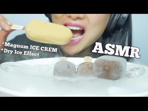 ASMR Magnum Ice Cream + Dry Ice (EATING SOUNDS) No Talking | SAS-ASMR