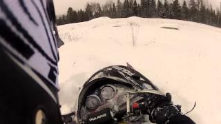 7. 2004 Polaris Pro X snowmobile jumping & crashing GO PRO