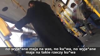 """""""Jesteście zwykłymi ch*jami!"""" Seba bez biletu kontra dwóch kontrolerów – Poznań"""