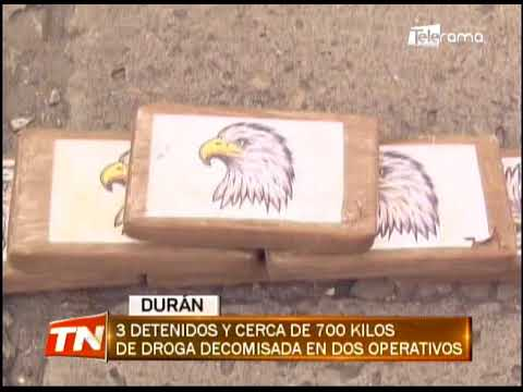 3 detenidos y cerca de 700 kilos de droga decomisada en dos operativos