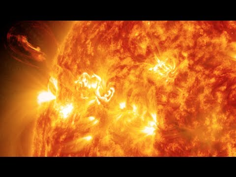 graceful - A mid-level flare, an M6.5, erupted from the sun on April 2, 2014, peaking at 10:05 a.m. EDT. This video from NASA's Solar Dynamics Observatory shows the fla...