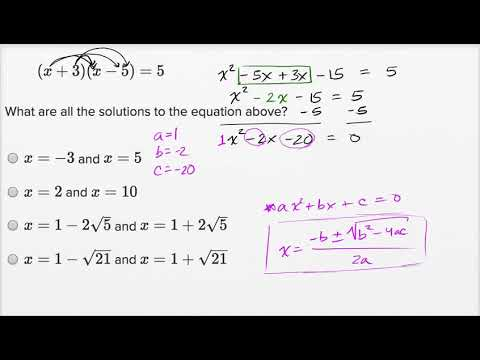 Solving Quadratic Equations Harder Example Video Khan