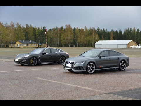 Audi RS7 560 hp vs Porsche Panamera Turbo S Powerkit 540 hp drag race