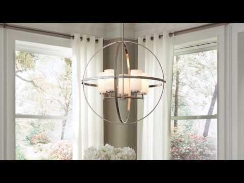 Video for Alturas Brushed Nickel Five-Light Pendant