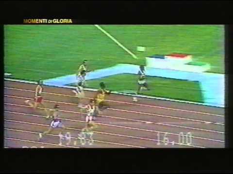 pietro mennea - finale 200 mt - il sogno del record