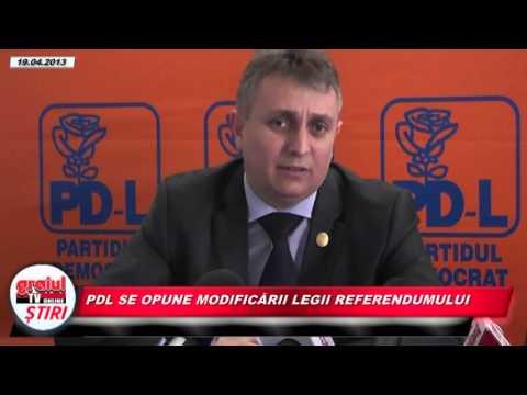PDL se opune modificării Legii Referendumului