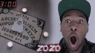 Do NOT Play OUIJA BOARD at 3:00 AM!! *THIS IS WHY* (EVIL ZOZO SPIRIT PROOF)The 3 am one man hide and seek game has taken over YouTube. Unfortunately i didn't have a possessed doll. instead i did something similar which was use an Ouija board at 3 am to do this scary, terrifying and creepy challenge. this allowed me to see if i can contact an evil spirit called zozo... lets just say.. it wasn't what i expected :/ Don't attempt this as it went horribly wrong. my house haunted.GET SOME KING KENNY T-SHIRTS! : https://shop.spreadshirt.net/KingKennyTvMy Twitch: https://www.twitch.tv/kingkennytvMy Snapchat: SkullparkerMy Twitter : https://twitter.com/KingKennytvMy Facebook :https://www.facebook.com/KingKennyTv/My InstaGRUM : https://www.instagram.com/kingkennytv/My YouNow: https://www.younow.com/kingkennytv/channel