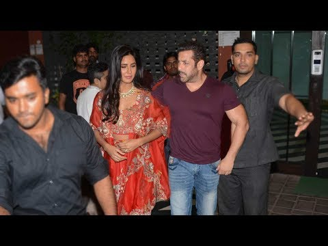 Salman Khan With GIRLFRIEND Katrina Kaif At His Diwali Party 2017