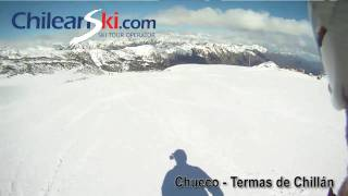 Chueco ski trail video, Termas de Chillán Chile