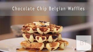 Chocolate Chip Belgian Waffles - YouTube