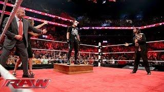 Sting ambushes Triple H and Seth Rollins: Raw, Aug. 24, 2015