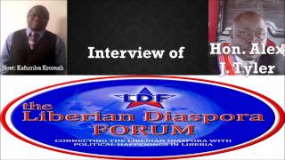 The Liberian Diaspora Forum(LDF) With Hon. Alex Tyler