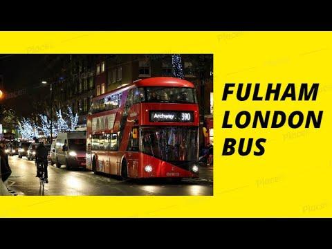 London Bus Ride 2018 UK Tour Buses Video Fulham Road Street