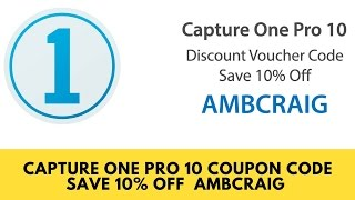 Capture One Pro 10 Voucher Code Capture One Pro 10 Coupon CodeAMBCRAIG saves you 10% off Capture One pro 10Get Your 5 FREE Retouching Actions:  http://shutterslam.com/freeSubscribe to my YouTube Channel: https://goo.gl/0AyD4uRecommended Gear: https://shutterslam.com/blog/camera-gear/Online Digital Photography Courses: https://shutterslam.com/coursesCapture One Pro 10 Discount Code: AMBCRAIG——————————————————————————————Follow Me On Social Media...Facebook: https://www.facebook.com/CraigbecktaphotographyInstagram: https://instagram.com/craigbecktaTwitter: https://twitter.com/craigbeckta500 PX: https://500px.com/craigbecktahttps://www.youtube.com/user/CraigBeckta
