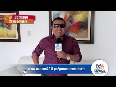 Juan Carlos Orderique se une a los Censos Nacionales 2017