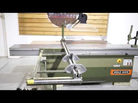 HOLZ HER 1252 SLIDING TABLE PANEL SAW