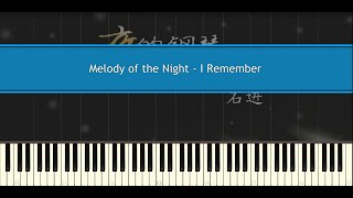 Nonton I Remember  Melody Of The Night    Shi Jin  Piano Tutorial  Film Subtitle Indonesia Streaming Movie Download